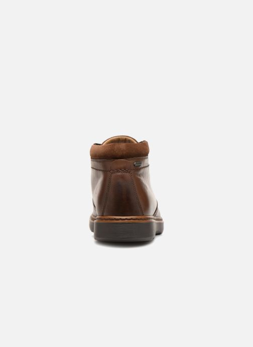 Ankle boots Clarks Unstructured Un Geo Mid GTX Brown view from the right