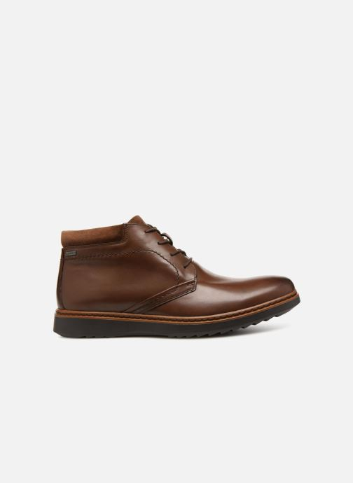 Ankle boots Clarks Unstructured Un Geo Mid GTX Brown back view