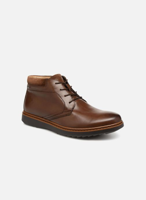 Ankle boots Clarks Unstructured Un Geo Mid GTX Brown detailed view/ Pair view