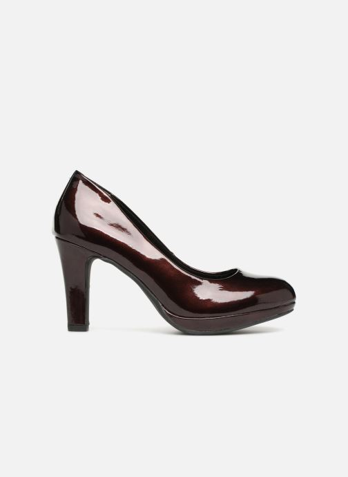 High heels Marco Tozzi LETH Burgundy back view