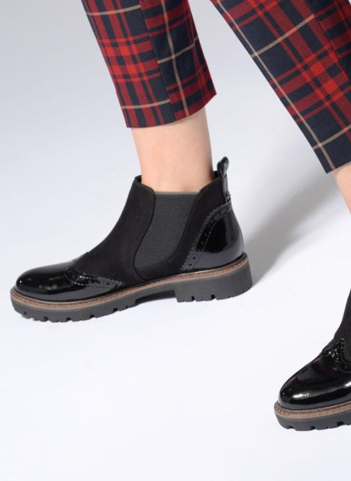 Ankle boots Marco Tozzi ABEL Black view from underneath / model view