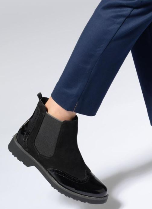 Ankle boots Marco Tozzi RYAD Black view from underneath / model view