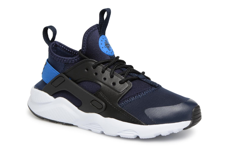 Baskets Nike Huarache Run Ultra (PS) Bleu vue détail/paire
