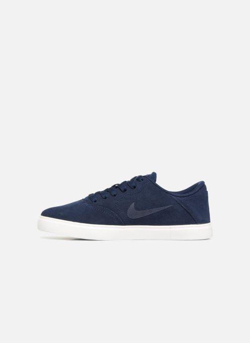 Baskets Nike SB Check Suede Bleu vue face