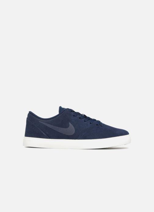 Baskets Nike SB Check Suede Bleu vue derrière