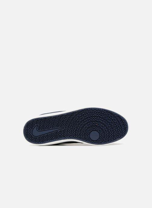 Baskets Nike SB Check Suede Bleu vue haut