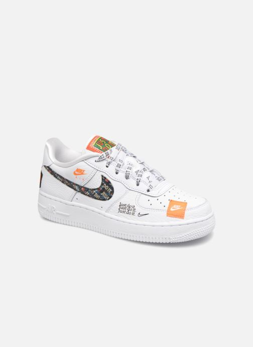 hot sale online f6cde 320a6 Baskets Nike Air Force 1 JDI Premium Blanc vue détail paire