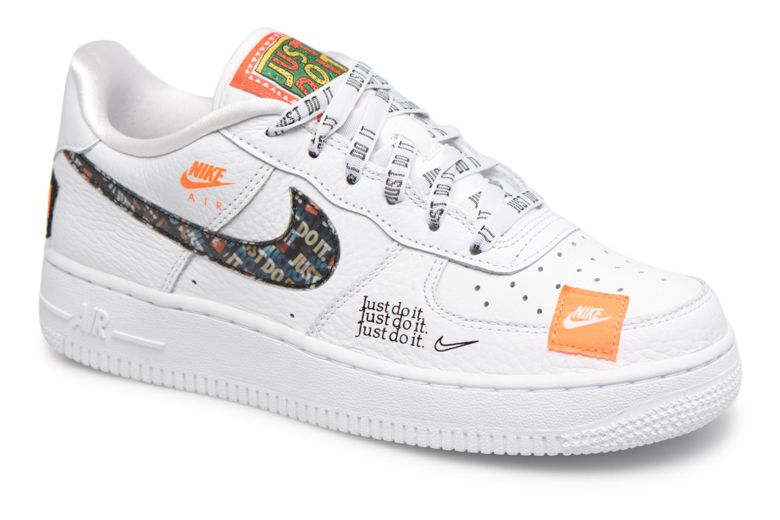 Baskets Nike Air Force 1 JDI Premium Blanc vue détail/paire