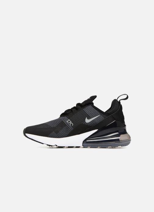 Sneaker Nike Air Max 270 Knit Jacquard schwarz ansicht von vorne