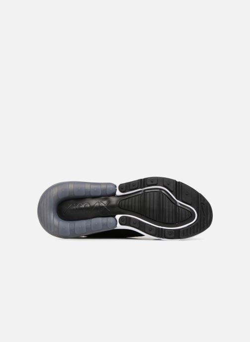 Sneaker Nike Air Max 270 Knit Jacquard schwarz ansicht von oben