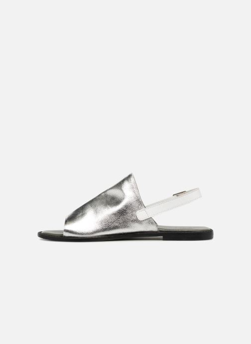 Sandals Vero Moda Metalic sandal Silver front view