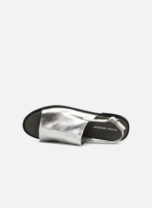 Sandals Vero Moda Metalic sandal Silver view from the left