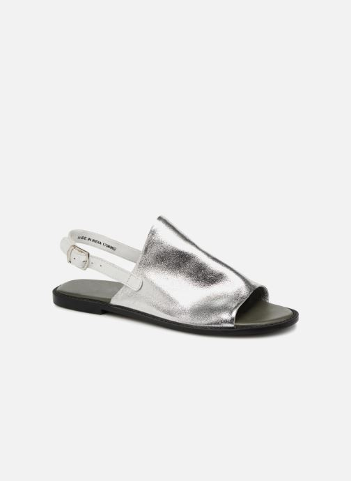 Sandaler Vero Moda Metalic sandal Silver detaljerad bild på paret