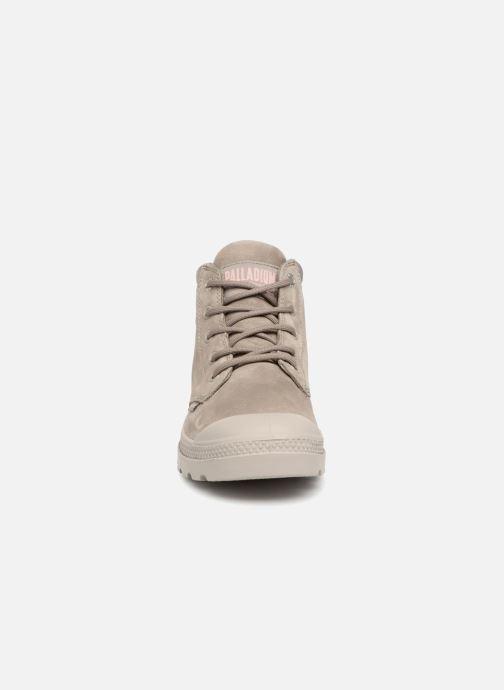 Bottines et boots Palladium Low Cuff Lea W Vert vue portées chaussures