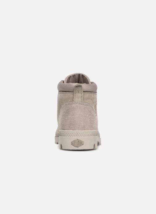 Bottines et boots Palladium Low Cuff Lea W Vert vue droite