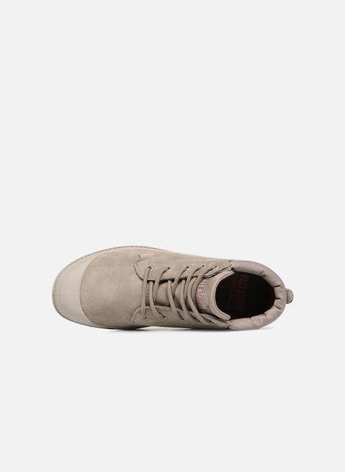 Bottines et boots Palladium Low Cuff Lea W Vert vue gauche