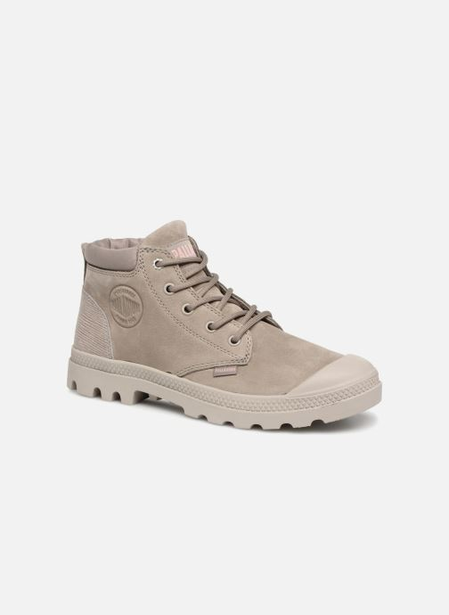 Bottines et boots Palladium Low Cuff Lea W Vert vue détail/paire