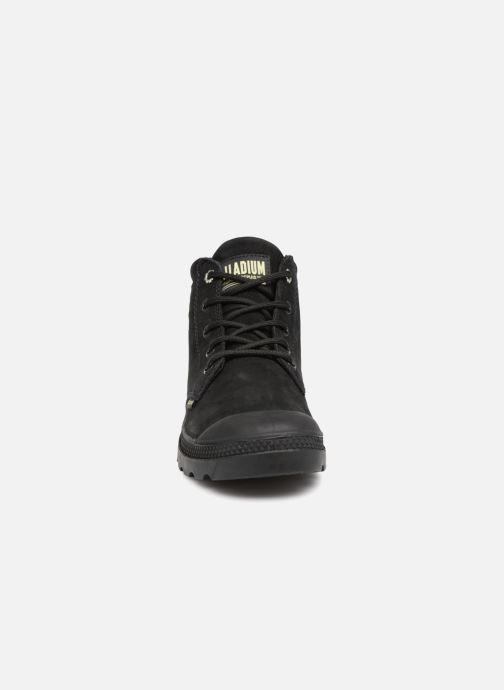 Bottines et boots Palladium Low Cuff Lea  W Noir vue portées chaussures