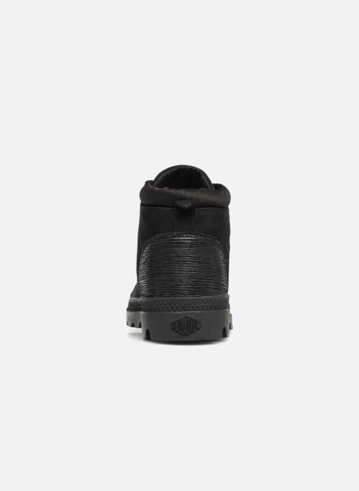 Ankle boots Palladium Low Cuff Lea  W Black view from the right