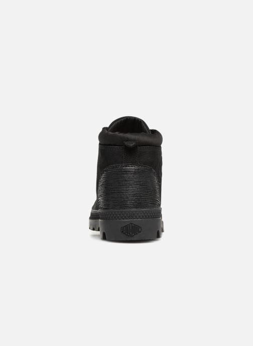 Bottines et boots Palladium Low Cuff Lea  W Noir vue droite