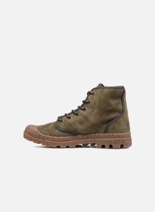 Bottines et boots Palladium Pampa Hi Cord M Vert vue face