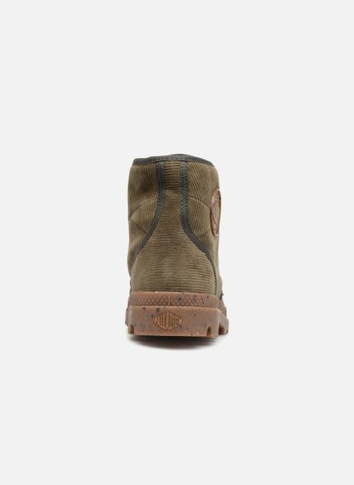 Bottines et boots Palladium Pampa Hi Cord M Vert vue droite