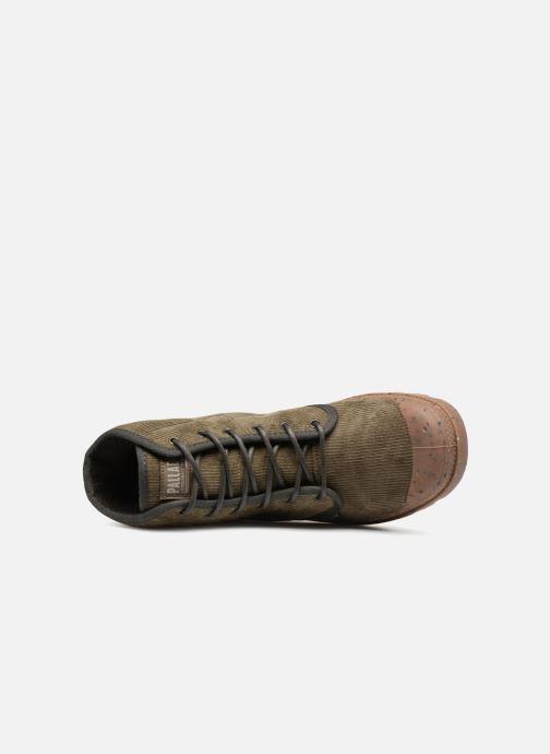 Bottines et boots Palladium Pampa Hi Cord M Vert vue gauche