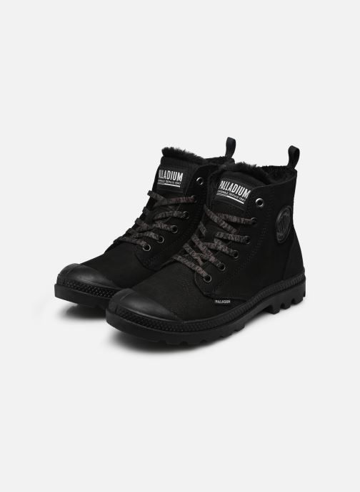 Bottines et boots Palladium Pampa Hi Zip W Noir vue bas / vue portée sac