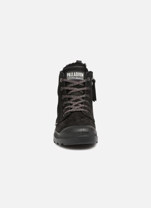 Bottines et boots Palladium Pampa Hi Zip W Noir vue portées chaussures