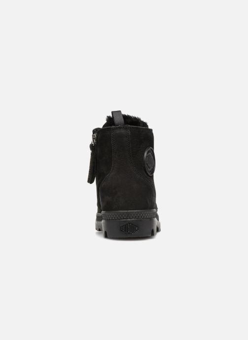 Bottines et boots Palladium Pampa Hi Zip W Noir vue droite