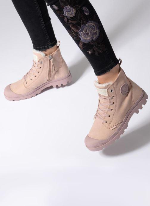 Stiefeletten & Boots Palladium Pampa Hi Zip W beige ansicht von unten / tasche getragen