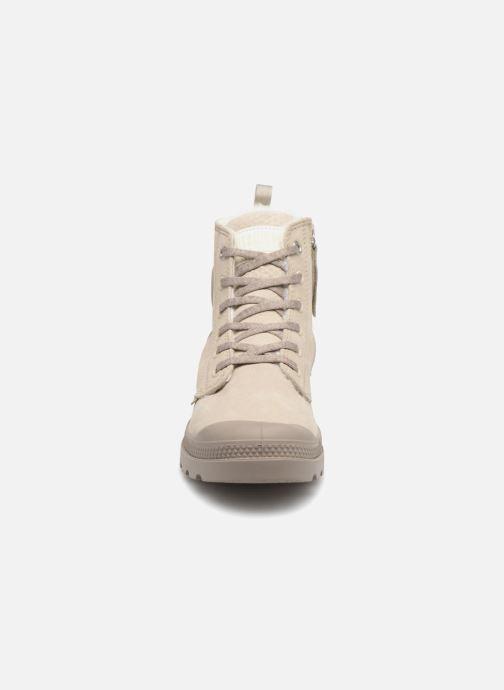Bottines et boots Palladium Pampa Hi Zip W Beige vue portées chaussures