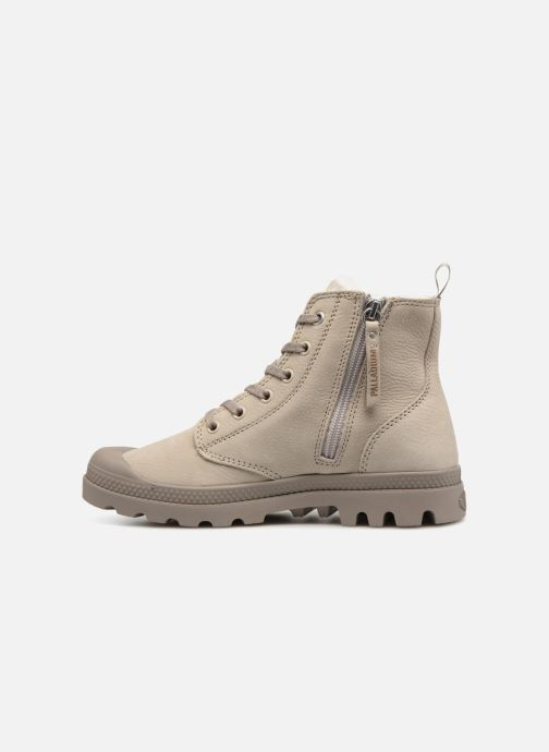 Bottines et boots Palladium Pampa Hi Zip W Beige vue face