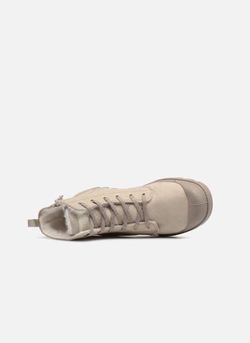Bottines et boots Palladium Pampa Hi Zip W Beige vue gauche