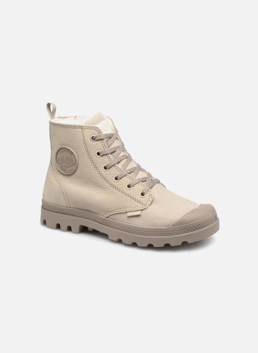 Bottines et boots Palladium Pampa Hi Zip W Beige vue détail/paire