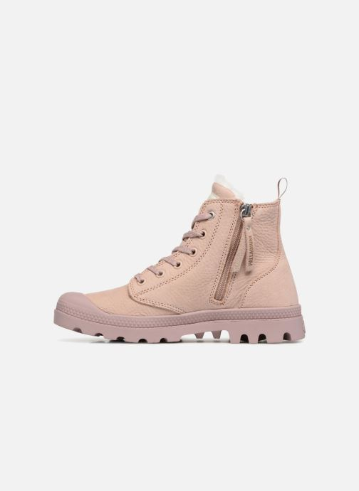 Bottines et boots Palladium Pampa Hi Zip W Rose vue face
