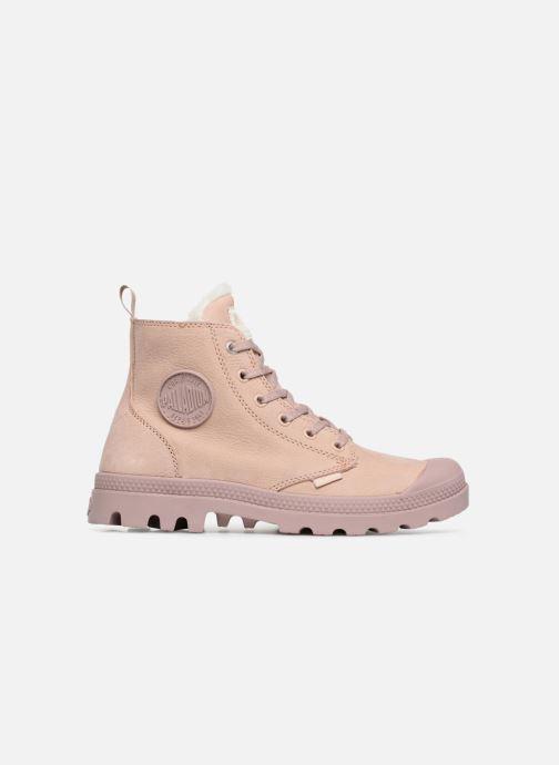 Bottines et boots Palladium Pampa Hi Zip W Rose vue derrière