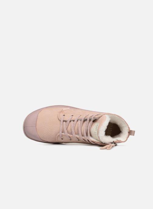 Stiefeletten & Boots Palladium Pampa Hi Zip W rosa ansicht von links