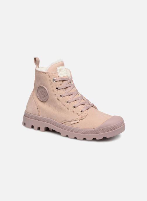 Bottines et boots Palladium Pampa Hi Zip W Rose vue détail/paire
