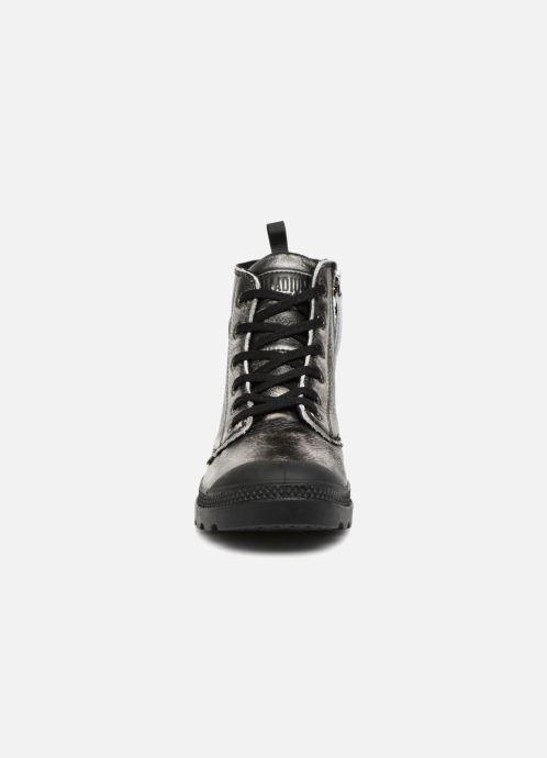 321c353c85ee82 Bottines et boots Palladium Pampa Hi Zip Pony W Argent vue portées  chaussures