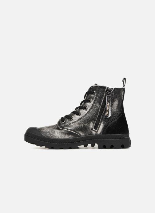 Stiefeletten & Boots Palladium Pampa Hi Zip Pony W silber ansicht von vorne