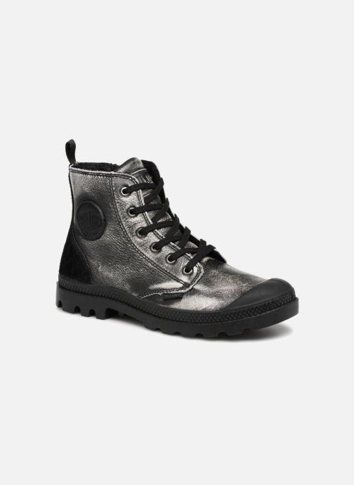 a9d0aa4abeca63 Bottines et boots Palladium Pampa Hi Zip Pony W Argent vue détail paire