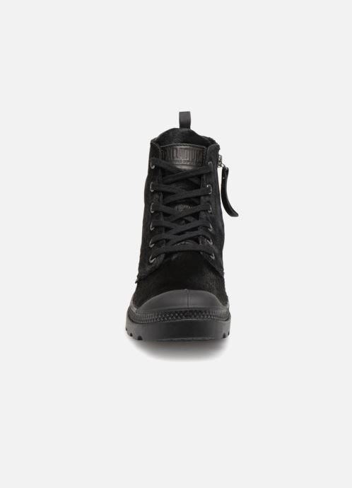 Bottines et boots Palladium Pampa Hi Zip Pony W Noir vue portées chaussures