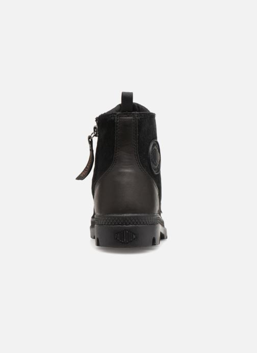 Ankle boots Palladium Pampa Hi Zip Pony W Black view from the right