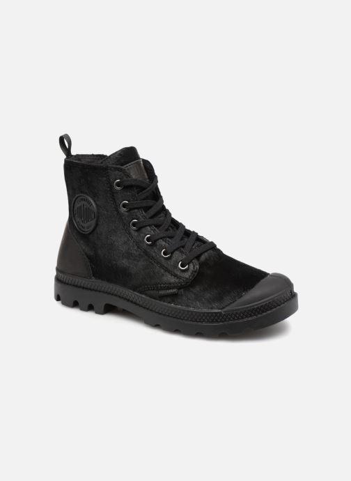 d073bcd4a067d2 Bottines et boots Palladium Pampa Hi Zip Pony W Noir vue détail paire