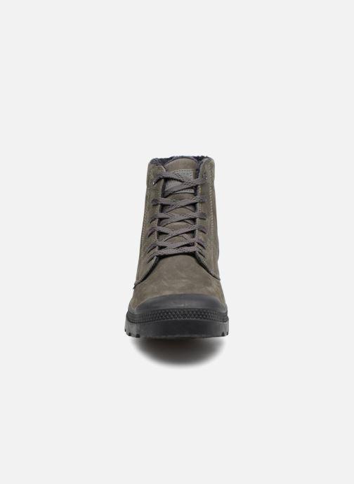 Bottines et boots Palladium Pallabrousse Lth S M Gris vue portées chaussures
