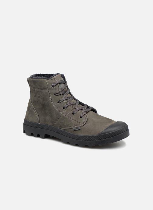 Bottines et boots Palladium Pallabrousse Lth S M Gris vue détail/paire