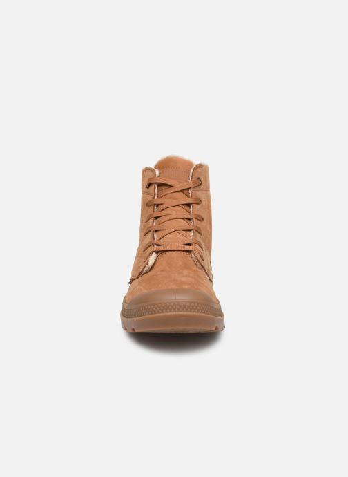 Bottines et boots Palladium Pallabrousse Lth S M Marron vue portées chaussures