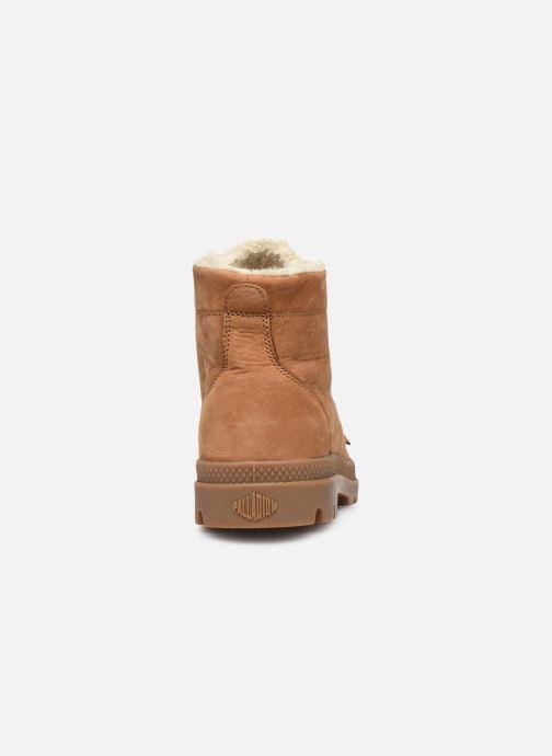 Bottines et boots Palladium Pallabrousse Lth S M Marron vue droite