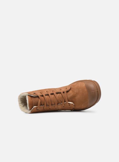 Bottines et boots Palladium Pallabrousse Lth S M Marron vue gauche